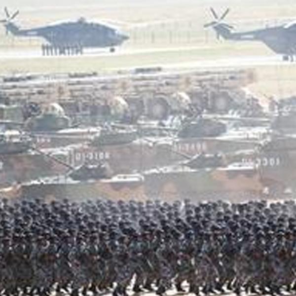 野战练兵基地变身阅兵场
