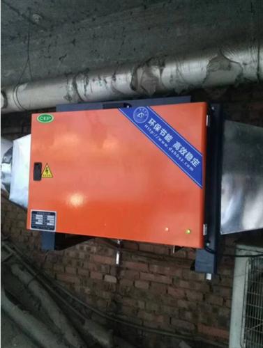 大型地铁商城餐饮油烟净化器安装案例