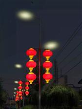 知名led灯笼厂家-路灯杆红灯笼照亮城市的美!