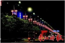 新疆喀什路灯杆led中国结装饰路灯形成一道美丽的风景线!