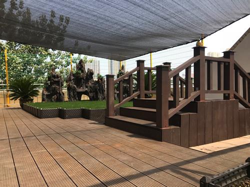 咸阳塑木景观案列