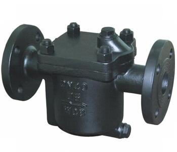 倒置桶式蒸汽疏水阀结构与尺寸图