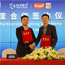 Tris Vision Sign Contract with Tuya smart