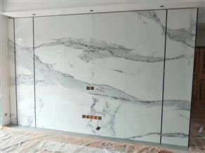 大理石电视背景墙施工步骤