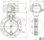 GID系列电动真空蝶阀外形图