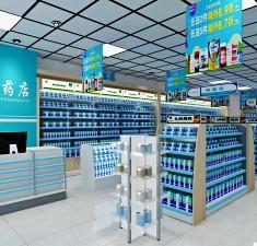 药店货架药店装修设计