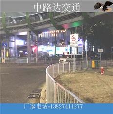 东莞凤岗市政道路深标护栏安装终了