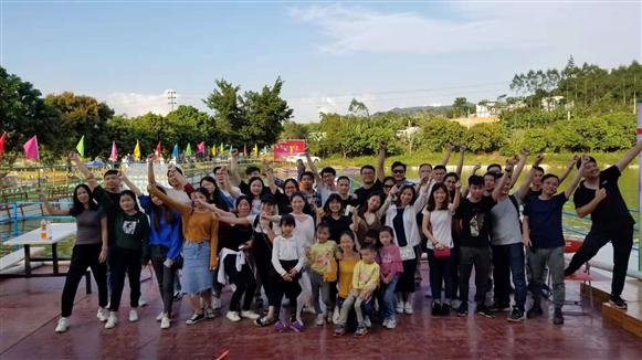 深圳农家乐团队户外活动基地乐湖生态园迎来朗俊五金53人组团亲身体验