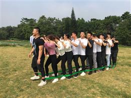 深圳公司户外活动趣味运动会项目之巨人脚步