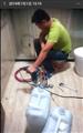 卫生间水固化注浆防水堵漏施工现场
