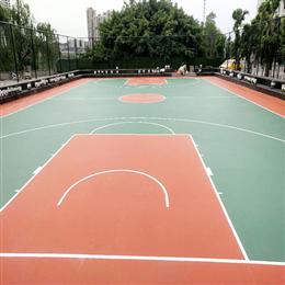 四川简阳滨江路硅PU篮球场工程案例