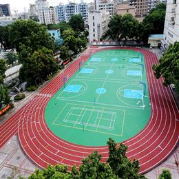 广州白云区某学校全塑形跑道、硅pu竞博官网地址圆满验收成功!