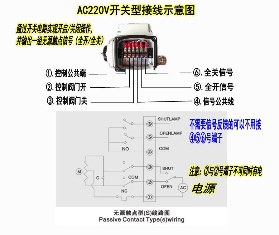 AC220V电动雷竞技下载地址接线图