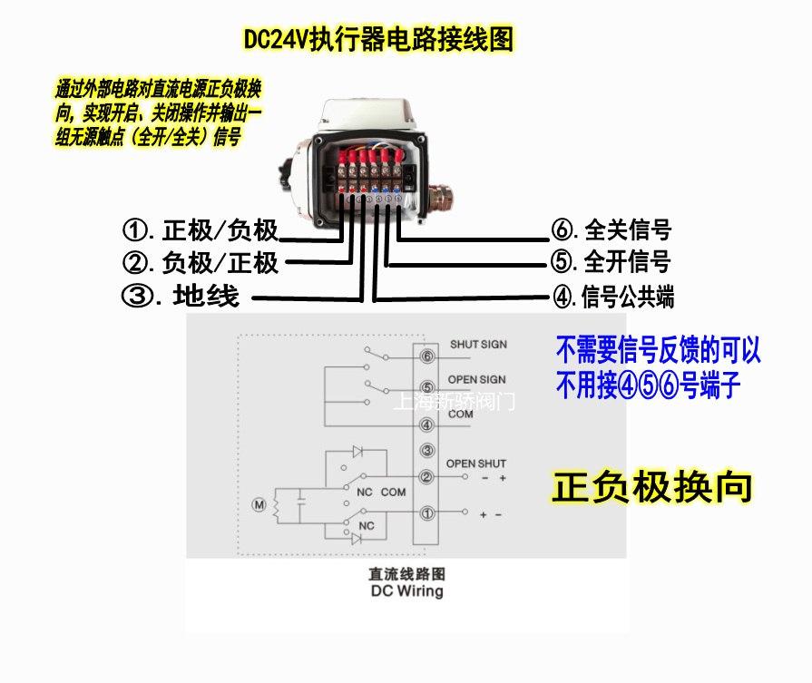 DC24V电动雷竞技下载地址接线图