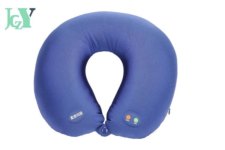 蓝色u型按摩枕