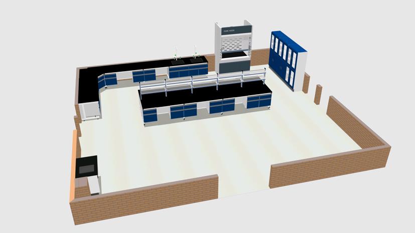 实验室家具三维设计图与效果图图片