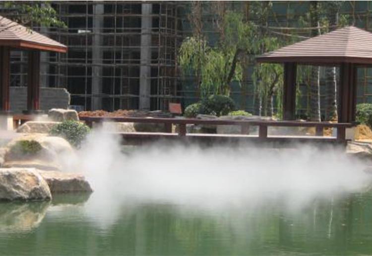 休闲广场园林喷雾人造雾景观案例1