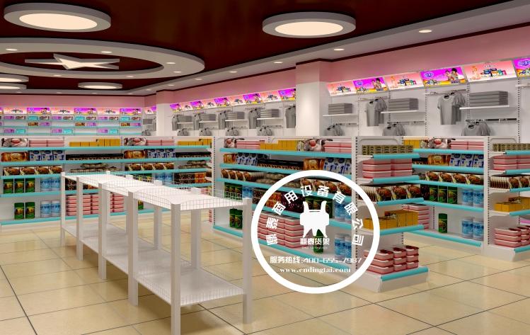 药店货架陈列-药店装修设计效果图