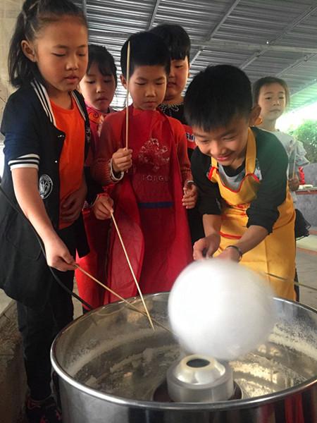 东莞松湖生态园亲子手工DIY活动棉花糖