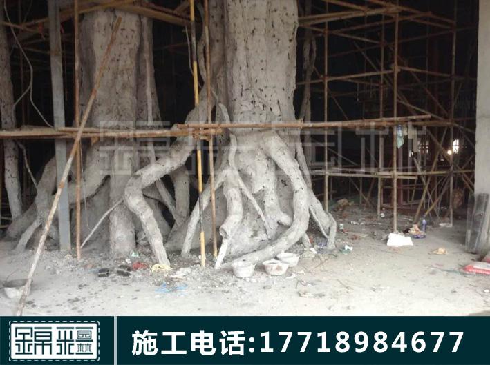假樹大門施工2