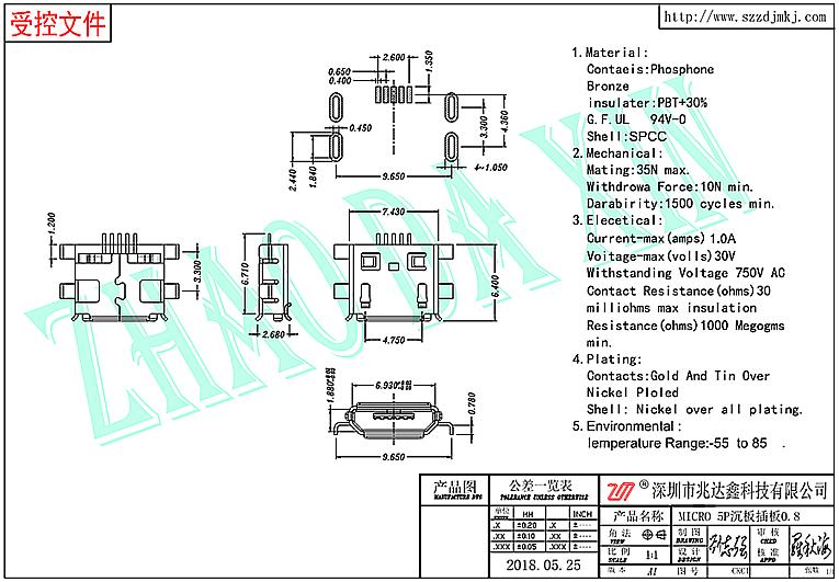 MICRO 5P连接器2