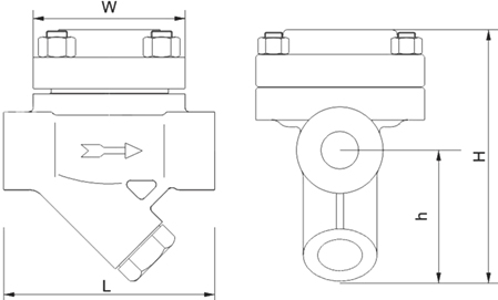 热静力膜盒式蒸汽疏水阀尺寸