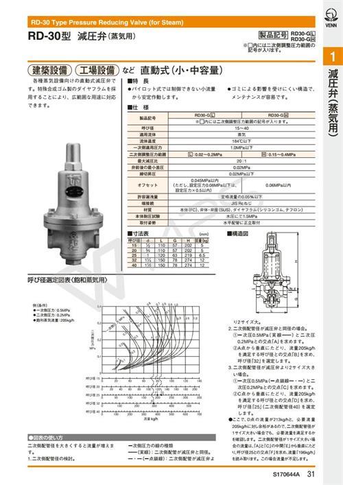 原装进口阀天RD-30蒸汽减压阀