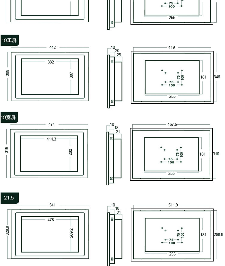 10mm工业显示器16