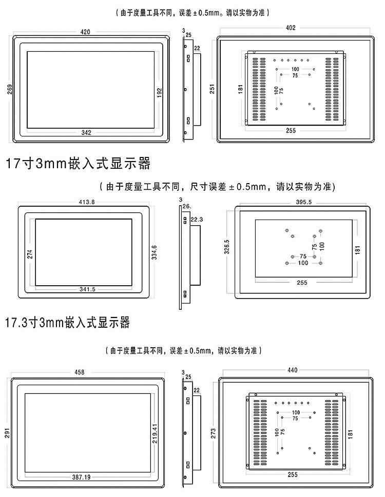 工业显示器16