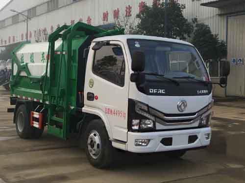 东风小多利卡自装卸式垃圾车3-5立方挂桶垃圾车1
