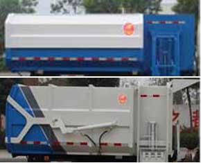 东风小多利卡自装卸式垃圾车3-5立方挂桶垃圾车3
