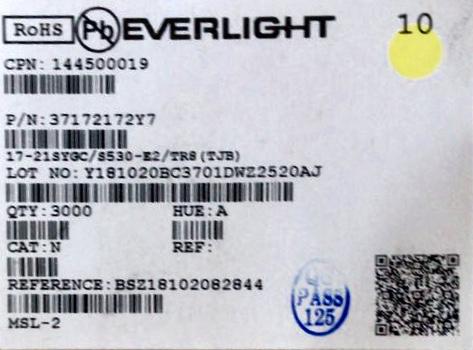 0805綠光LED標簽