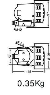 Motor siren LK-MCL dimention