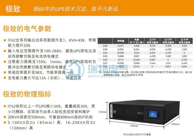 艾默生UPS电源ITA-06k00AE1102C001