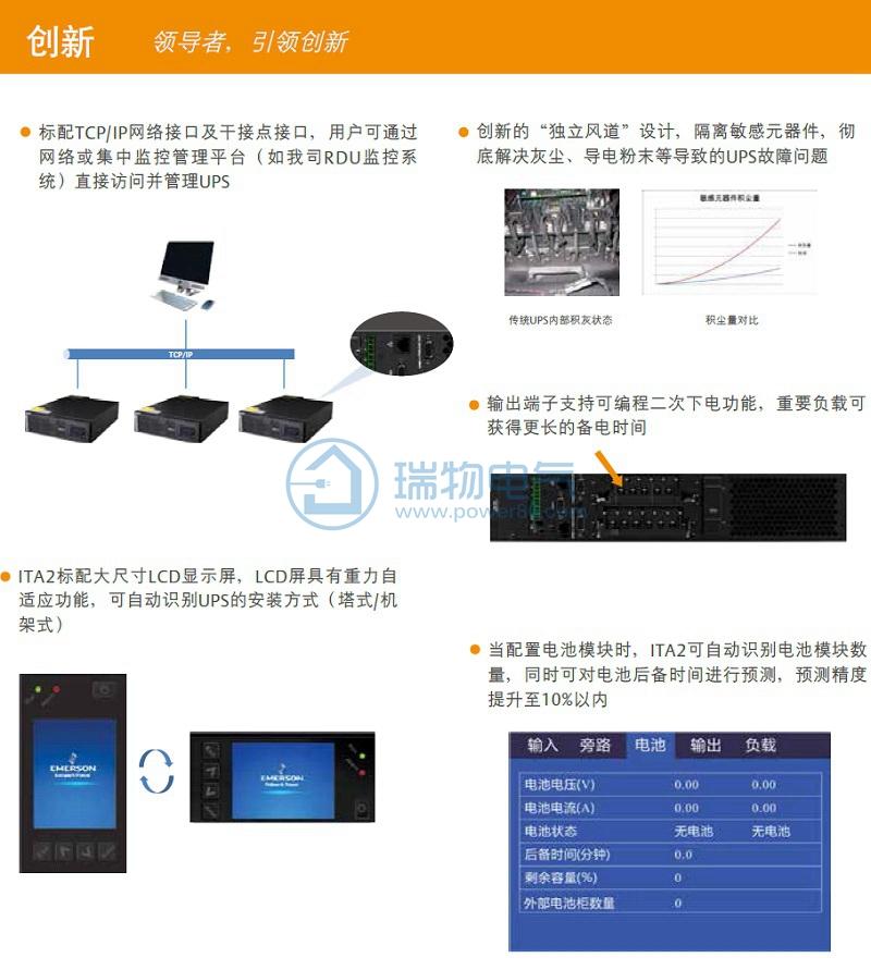 艾默生UPS电源ITA-06k00AE1102C002