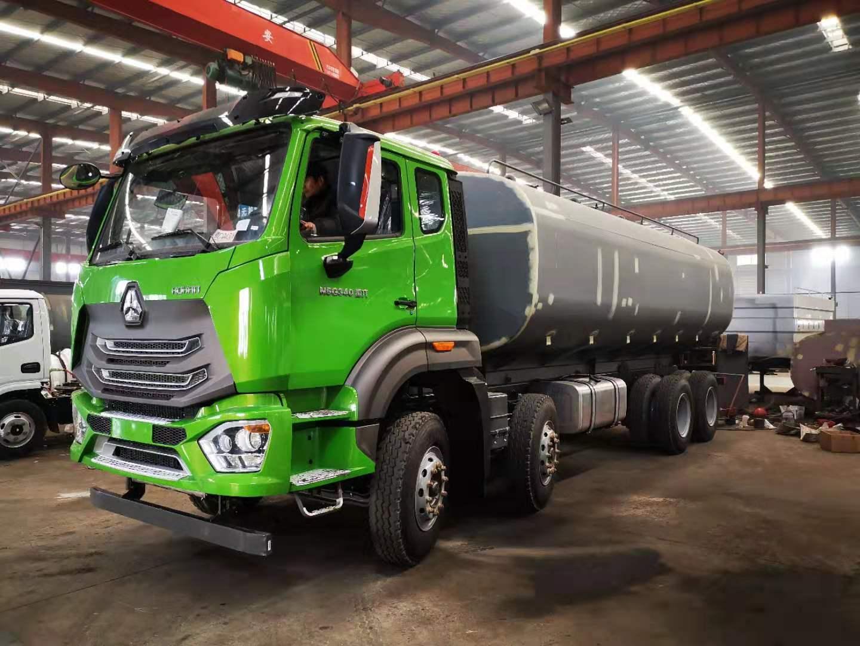 国六污泥运输车安装调试1