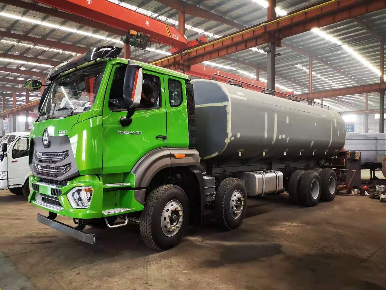 国六污泥运输车安装调试2