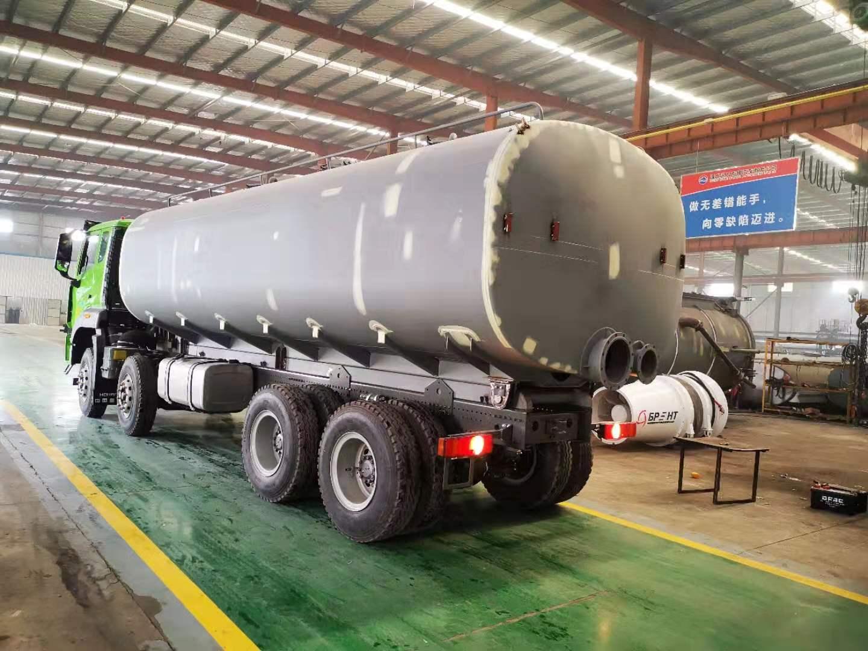 国六污泥运输车安装调试4