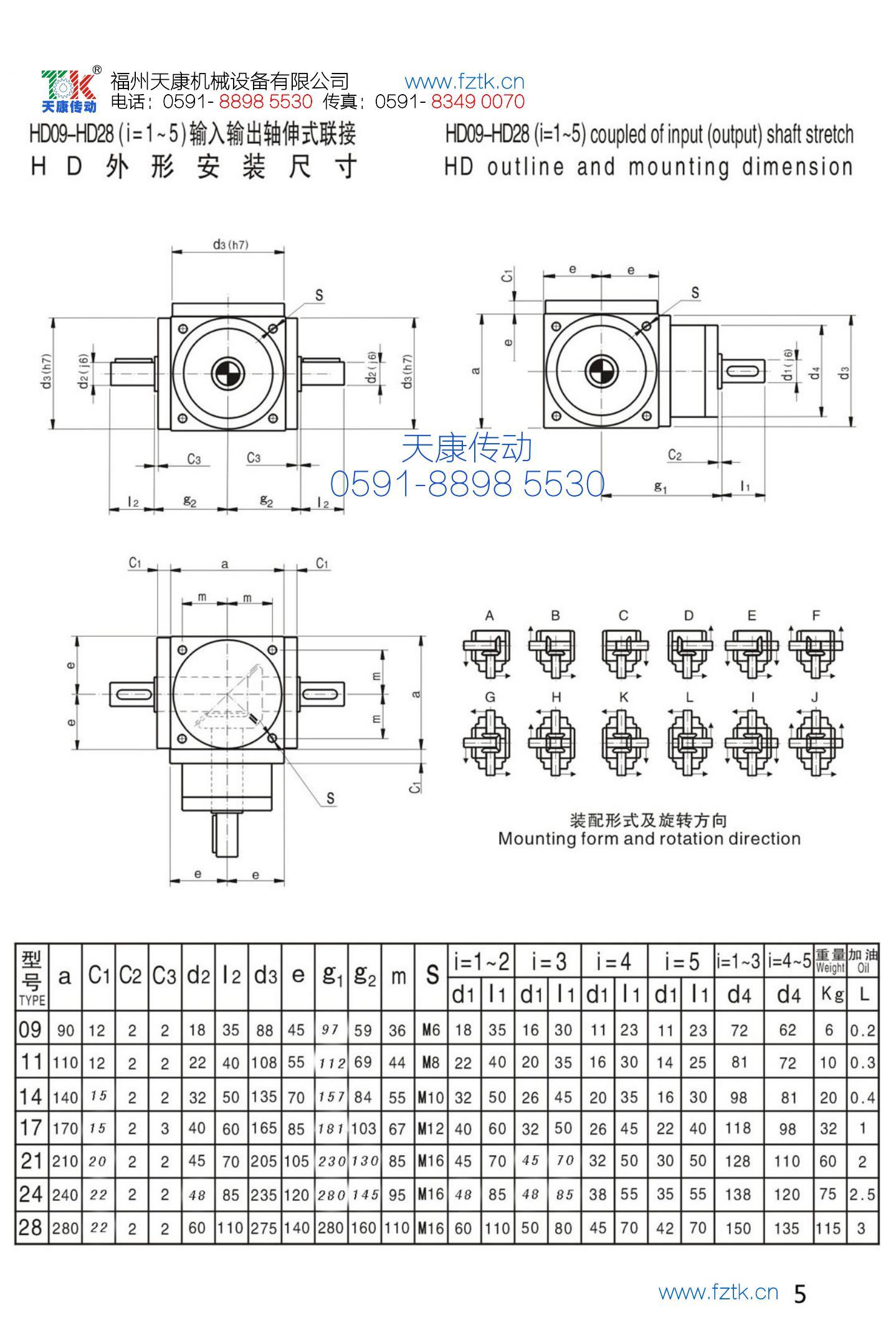 HD螺旋傘齒輪轉向器1