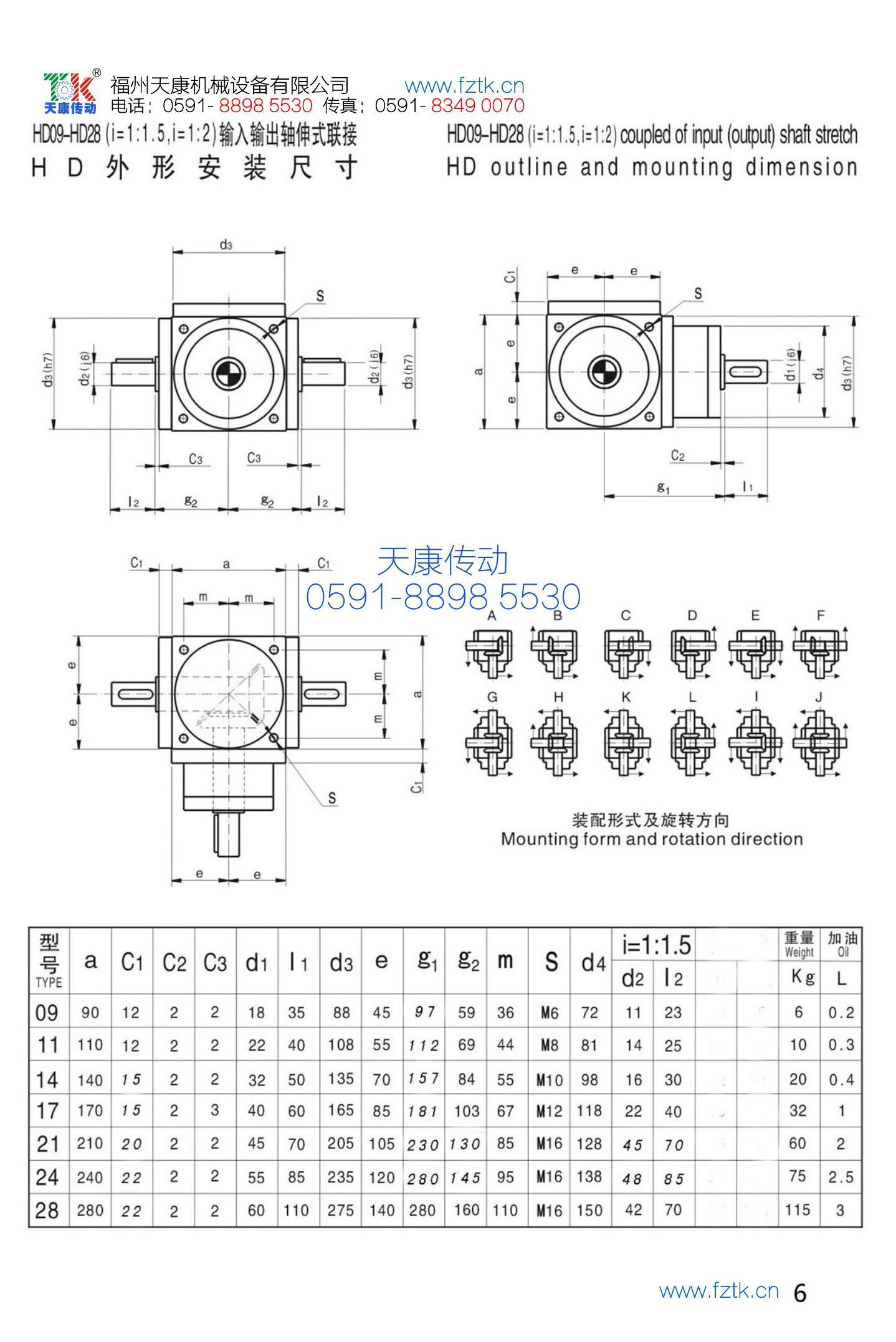 HD螺旋傘齒輪轉向器2