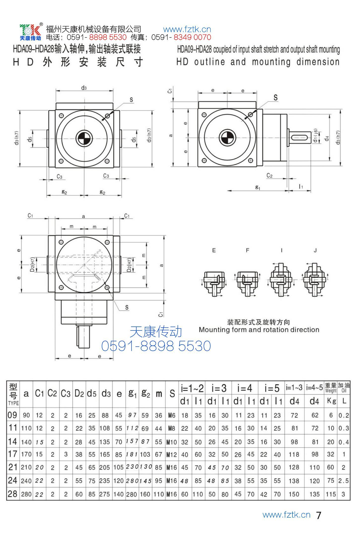 HD螺旋傘齒輪轉向器3