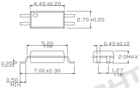 EL3H7光耦尺寸圖