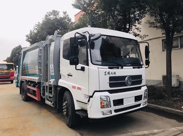 东风天锦12方压缩垃圾车1
