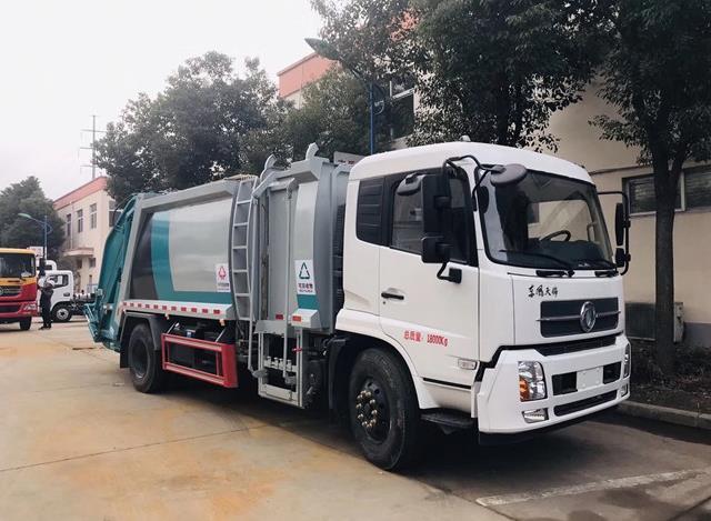 东风天锦12方压缩垃圾车2