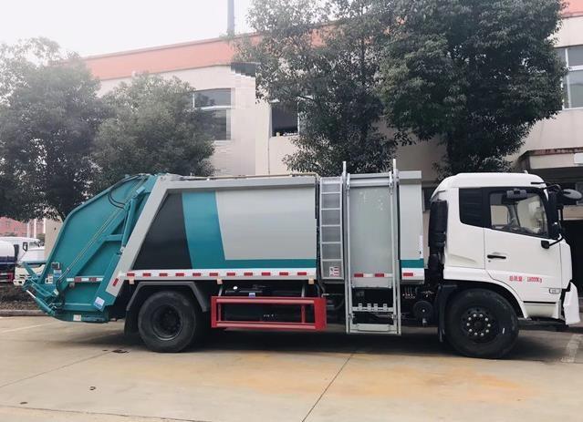 东风天锦12方压缩垃圾车3
