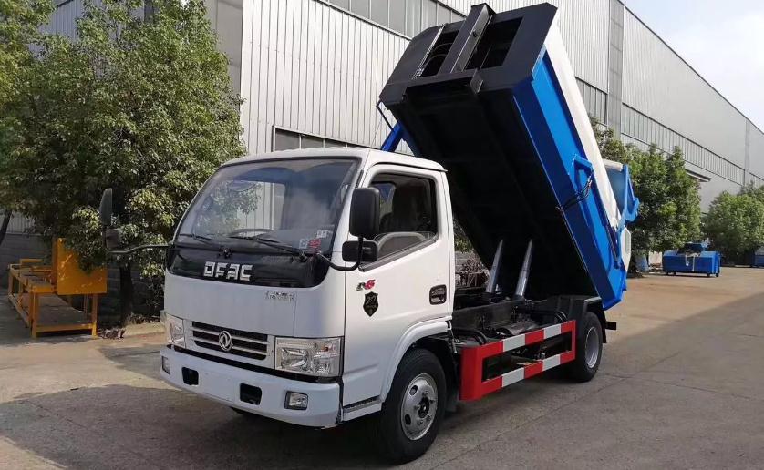 国六东风多利卡挂桶垃圾车5