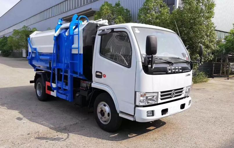 国六东风多利卡挂桶垃圾车6