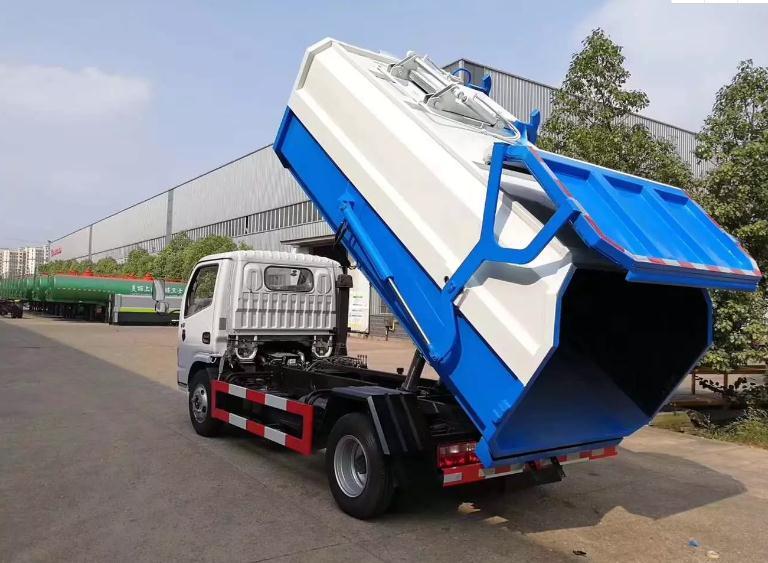 国六东风多利卡挂桶垃圾车7