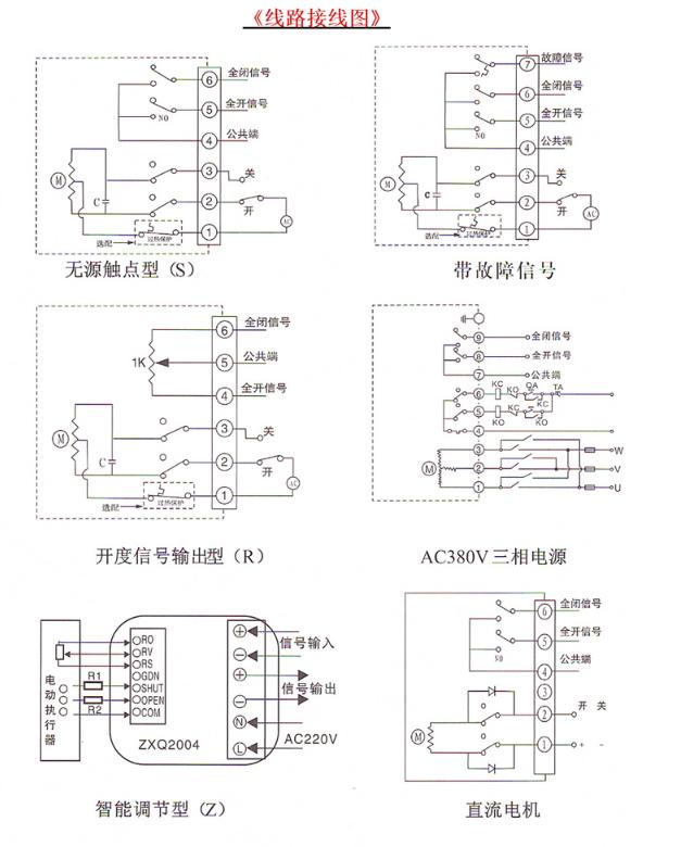 电动执行器接线