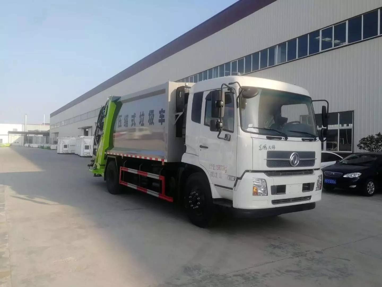 东风天锦后装压缩式垃圾车2
